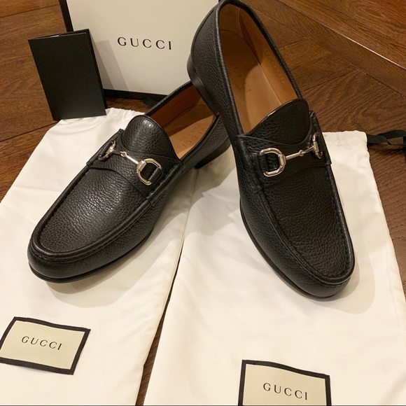 a2c36c38 Gucci Horsebit Leather Loafers